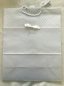 """Hallmark Gift Bag EX Large - Silver """"Forever"""" 15 1/2""""TX12 1/2""""WX 6""""D New(B35)"""