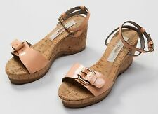 Stella McCartney Women's Nude Patent Leather Wedge High Heels Shoes Size EU 35