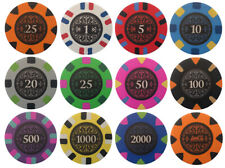 (12) BANK 18XX BOARD GAMES POKER CHIPS SAMPLE SET
