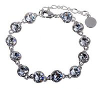 Swarovski Elements Crystal Brilliance Tennis Bracelet Rhodium Authentic 7101u