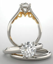 1.20 carat Round cut Natural Diamond G color VS2 GIA certificate 14k Gold Ring