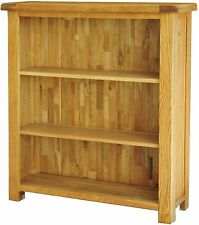 Pendle solid oak living room office furniture small bookcase