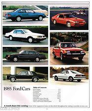 1985 Ford Brochure:MUSTANG,THUNDERBIRD,LTD,EXP,ESCORT,SVO,Crown Victoria,TEMPO,
