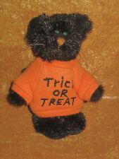 "Boyds Bears Black Kitty Cat Kitten Small 3.5"" Trick or Treat Shirt Halloween"