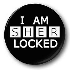 "I AM SHERLOCKED - 25mm 1"" Button Badge - Novelty Cute Sherlock Cumberbatch"