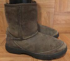 GUC❤️ UGG Australia Ultimate Shorts Boots Chocolate Brown Rugged 1240 Kids Sz 5