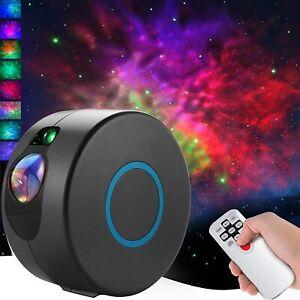 LED Rotating Galaxy Star Sky Projector Night Light Nebula Star Aurora Kids Space