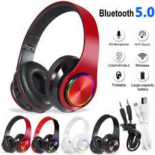 Bluetooth Gaming Headset Stereo Hi-Fi Headphone Earphone For Laptop PC Notebook