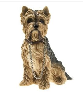 YORKSHIRE TERRIER DOG FIGURINE ORNAMENT GIFT BOXED