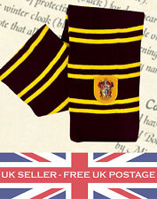 Harry Potter Gryffindor Knit Scarf Wrap Soft Warm Costume Cosplay Fancy Dress UK