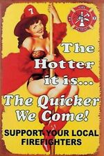 The Hotter it is Pinup Girl 4X6 Fridge Magnet Refrigerator Man Cave Decor SIGN