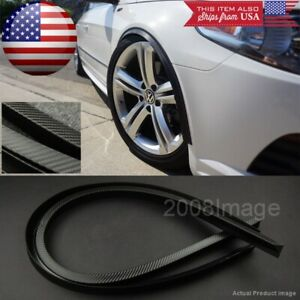 """2 Pieces 47"""" Black Carbon Arch Wide Body Fender Extension Lip Guard For  BMW"""