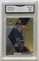 JAYLEN NOWELL 2019-20 PANINI MOSAIC  #212 TIMBERWOLVES Base RC GMA 10 Gem Mint