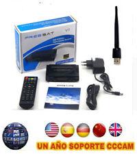Freesat V7 + USB WIFI + 1 año de CCCAM  (SOLO ENCHUFAR)