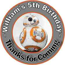 BB8 BB-8 STAR WARS BIRTHDAY THANK YOU FOR COMING PARTY STICKERS FAVORS