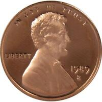 1989 S 1c Lincoln Memorial Cent Penny US Coin Choice Proof