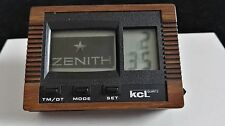 zenith vintage and rare desk watch advertising lcd flashing logo nice condition