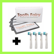 Tooth Fairy Professional Teeth Whitening Strips - 10 Strips + 4 Free Brush Heads