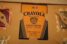 Vintage Glitter Art Pictures Set,Crayola Crayons No8 Glitter Products Co, Unused