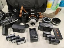 Sony a7S 12.2MP Camera Body - WORKS PERFECTLY w AC power supply 6 Batt 3 charger
