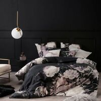 BRAND NEW Linen House Marselha Black Duvet Doona Quilt Cover Set  Cotton
