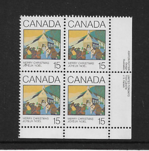 1980 CANADA - CHRISTMAS ISSUE - CORNER BLOCK - MINT AND NEVER HINGED.