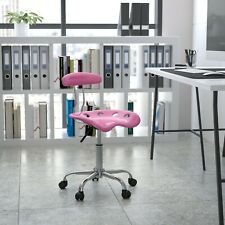 Computer Task Chair Tractor Seat Back Swivel Rolling Adjustable Stool Pink