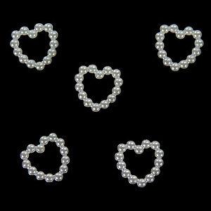 50 Perlen Herzen Deko Streuteile Scrapbooking Tischdeko Streudeko Hochzeit