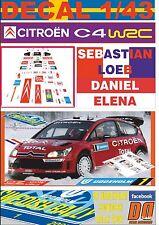 DECAL 1/43 CITROEN C4 WRC S.LOEB SWEDISH R. 2007 2nd (01)