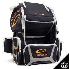 Latitude 64 DG Luxury E3 Backpack Disc Golf Bag - Black/Silver/Orange