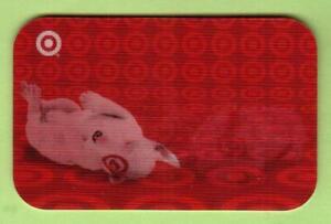 TARGET Bullseye Rolling Over 2006 Lenticular Gift Card ( $0 )