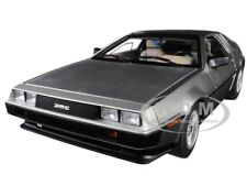 Delorean Dmc 12 Satin Silver 1/18 Model Car By Autoart 79916