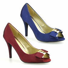 Stiletto Party Peep Toes Textile Heels for Women
