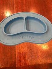 Nuby Blue Sure Grip No Spill Infant Baby Toddler Plate THIS THING WORKS! Nice!!