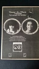 Donny & Marie Osmond.I'm Leaving It (All) Up To You 1974 Orig. Promo Poster Ad