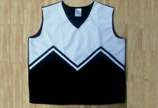 REAL ADULT L/XL BLACK WHITE CHEERLEADER UNIFORM SHELL TOP 39-41 Goth Cosplay NEW