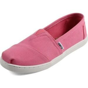 Toms Girls Shoes Classic Vegan Slip Ons Canvas Flats Bubblegum Pink