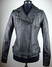 STREET ONE Leather Jacket Damen Lederjacke Bikerstyle Black Gr.34 NEU mit ETIKET