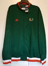 ADIDAS Climalite Full Zip Track Jacket Miami University Hurricanes Size Large