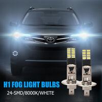 2x H1 Reemplazo 6500K HID Xenon Blanco Luz 24-SMD LED Bombillas Luces Niebla DRL