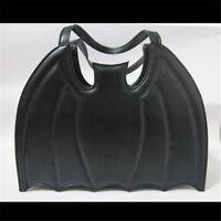 Rock Punk Style Bat Wings Shaped Handbag Gothic Batman Logo Black Bag Purse Gift