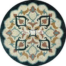 "30"" Marble Granite Top Side Coffee Table Malachite Inlaid Stones Bedroom Decor"