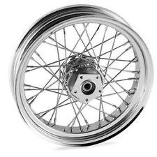 DNA 18 x 3.5 inch 40 spoke chrome front wheel Harley Davidson softail flst flstf
