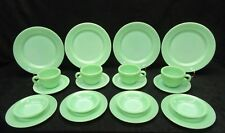 Vintage Jadeite Jadite Fire King Restaurant ware set. Minty Mint !!!! 20 Pieces