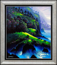 Jon Rattenbury Original Painting Acrylic on Canvas Signed Landscape Sea Artwork