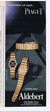 PUBLICITE ADVERTISING 104 1982 PIAGET montres à quartz