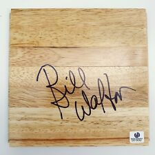 BILL WALTON - Signed Parquet FLOORBOARD Floor Blazers / Celtics Auto Global GAI