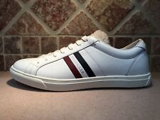 NEW MONCLER LACE UP FRONT WHITE LEATHER SNEAKER SHOES EURO SZ 42 100%AUTHENTIC