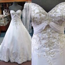 MORILEE WHITE STRAPLESS SWEETHEART Bridal Gown Dress 8 $1099 Orig Style 4134