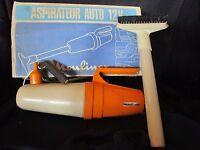 aspirateur orange  moulinex ref 72 12 volts pour auto en boite d'origine vintage
